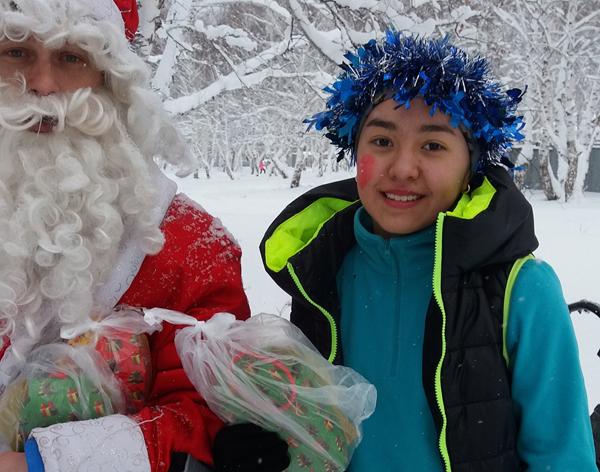 Новогодний лыжный праздник