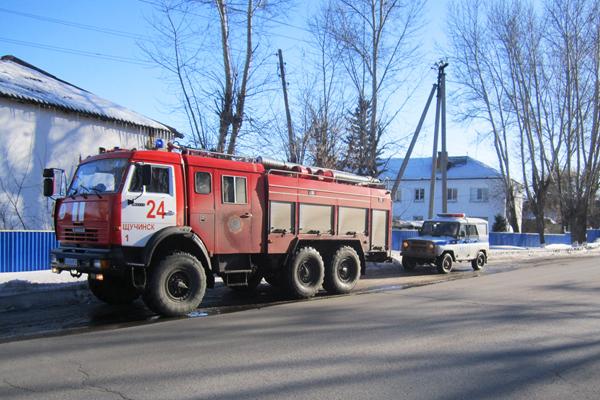Рейд СПЧ-24 отряда г. Щучинск по обеспечению беспрепятственного проезда пожарно-спасательной техники при следовании к месту ЧС