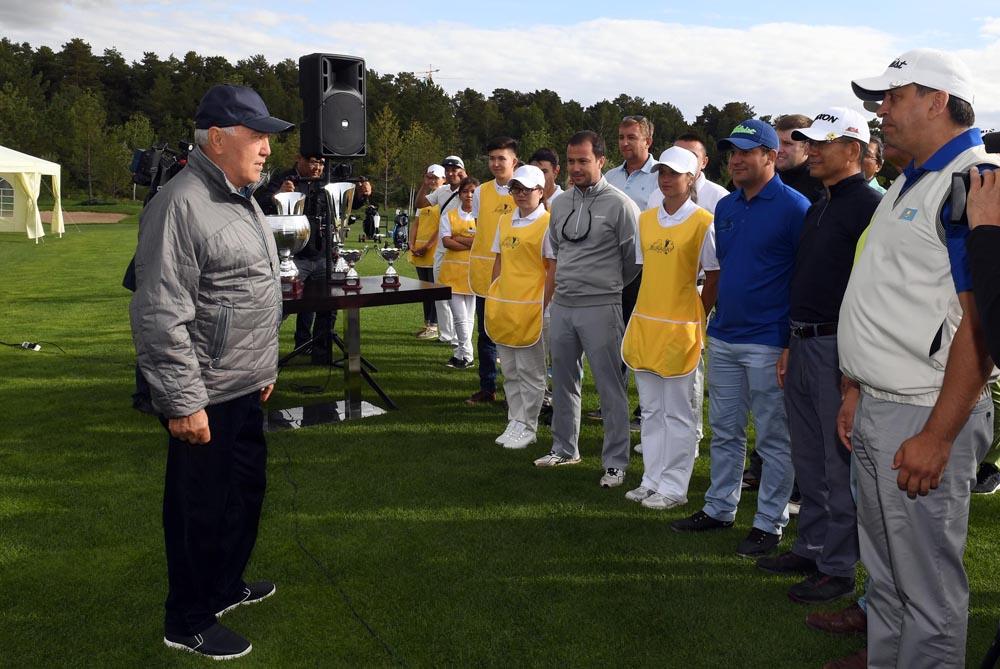 Участие в открытии гольф-клуба «Бурабай»