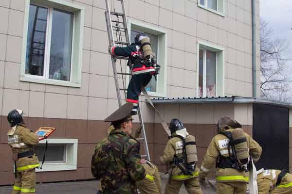 Пожарно-тактическое учение в ТРЦ «Grand»