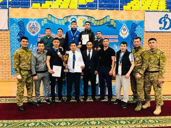 Команда ДВД Акмолинской области по рукопашному бою стала чемпионом Казахстана