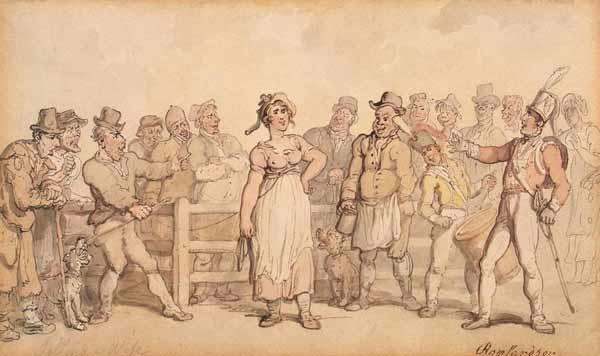 В Англии XIX века разводиться было дорого, поэтому жен продавали на аукционе