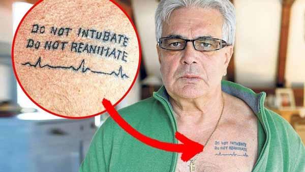 Почему врачи делают татуировки «Не реанимировать»?