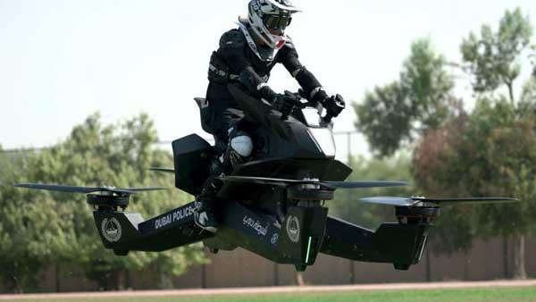 Надоели ваши AstonMartin и Bugatti: полиция Дубая пересаживается на ховербайки — летающие мотоциклы